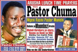Arusha Lunchtime prayers with PASTORCHUMA